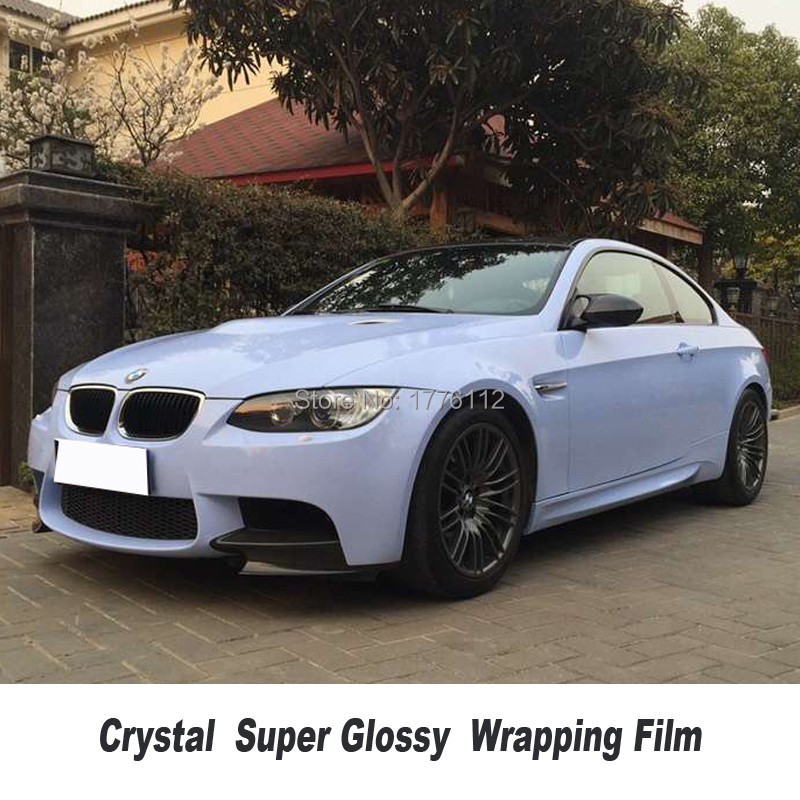 Highest quality series crystal Glossy rock blue Vinyl Wrap Sticker Vehicle Wrapping Foil Germany glue