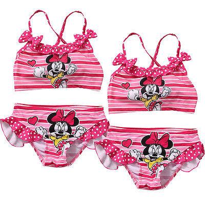 Baby Girls 2pcs/set  Tankini Bikini Set Swimwear Swimsuit Bathing Suit Beachwear HOT Cartoon Two-piece Swimsuits Clothing Sets