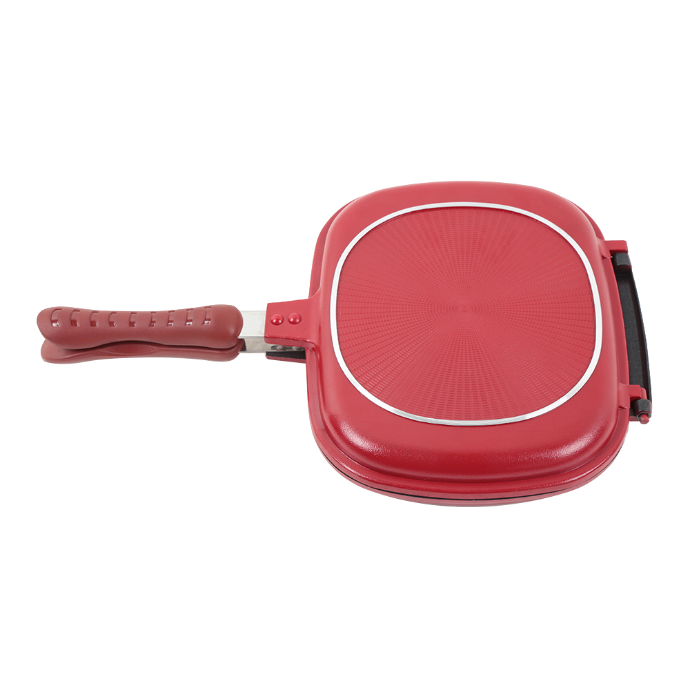 Plaques, Lèchefrites Double-sided Frying Pan Non-stick Barbecue Cooking Tool