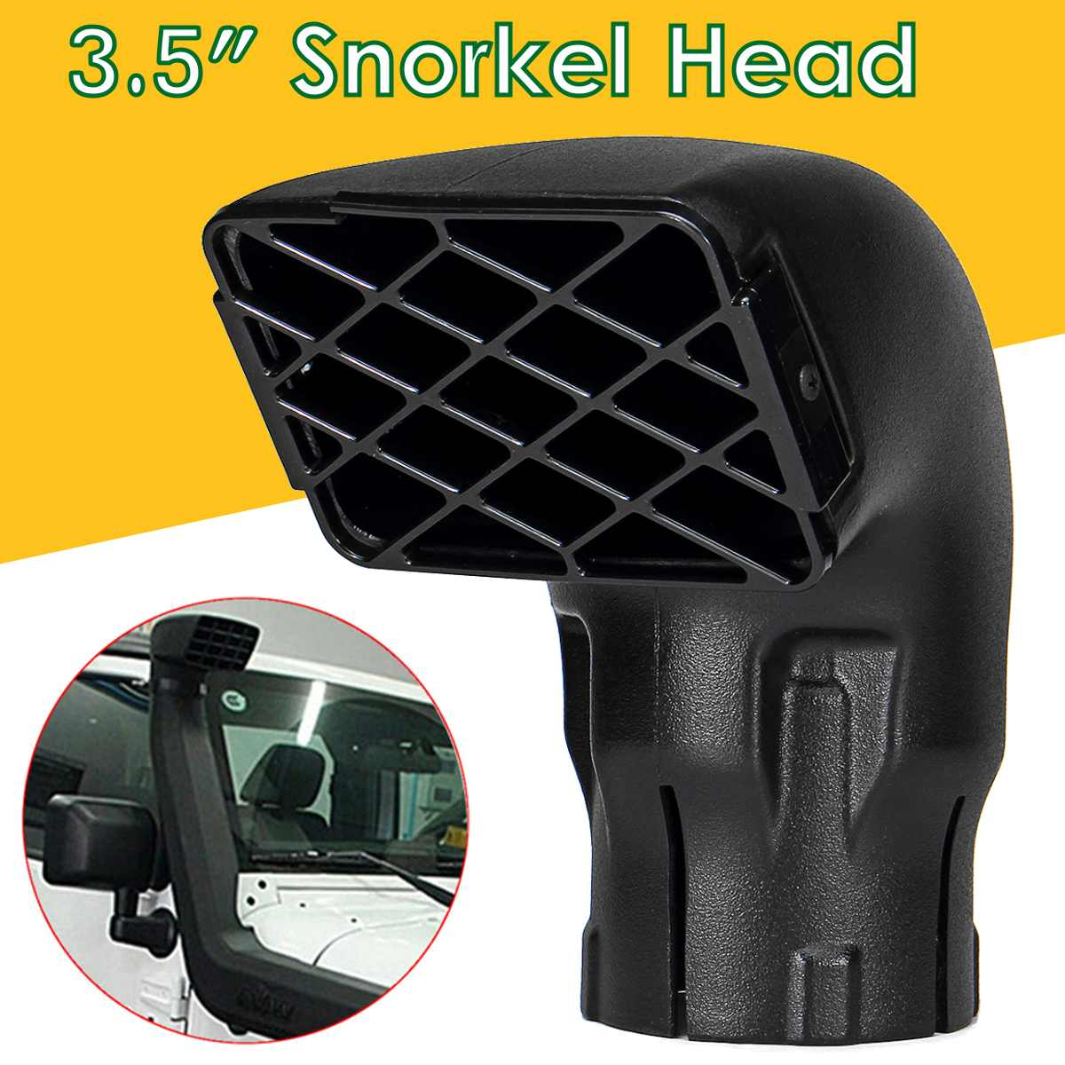 Black Car Air Intake Ram Fit Off Road Replacement Mudding Snorkel Head Air Intake Ram Dust Collector For Toyota SUV Car