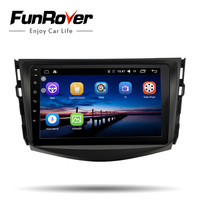 Funrover IPS Car Radio Multimedia Player Android 8.0 2 din Car dvd For Toyota RAV4 Rav 4 2007 2008 2009 2010 2011 wifi gps video