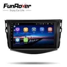 Funrover ips автомобиля Радио мультимедийный плеер Android 8,0 2 din dvd для автомобиля Toyota RAV4 Rav 4 2007 2008 2009 2010 2011 wifi gps видео