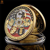 USA Navy USAF USMC Army Coast Guard American Free Eagle Totem Gold Military Medal Challenge Coin Collection