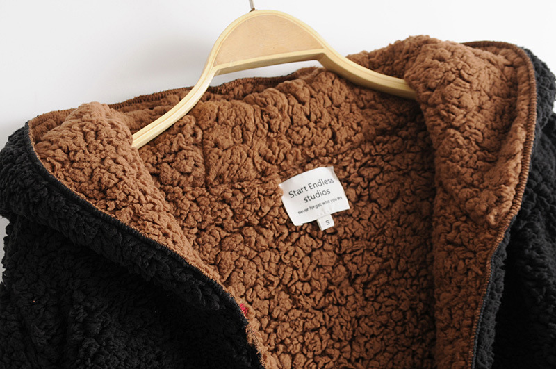 En Manteau Manteaux Longues kaki Femmes Long Manches Mode Hiver À Peluche Fourrure Capuchon Noir Col Chaud Femelle Automne V aqSxw60