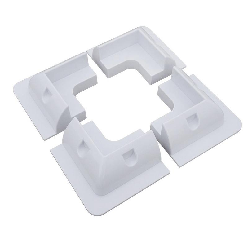 Car Accessories 4pcs/set Solar Panel Stand White Corner Mounting Bracket For RV Marine Flat Roof Camping Van And Caravan