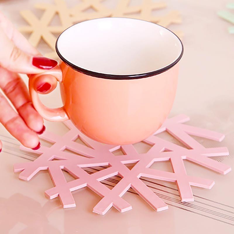 Soft PVC Creative Coaster Vase Pad Home Decoration Supplies Heat resistant Bowl Mat Hot Mesh Red Products in Mats Pads from Home Garden