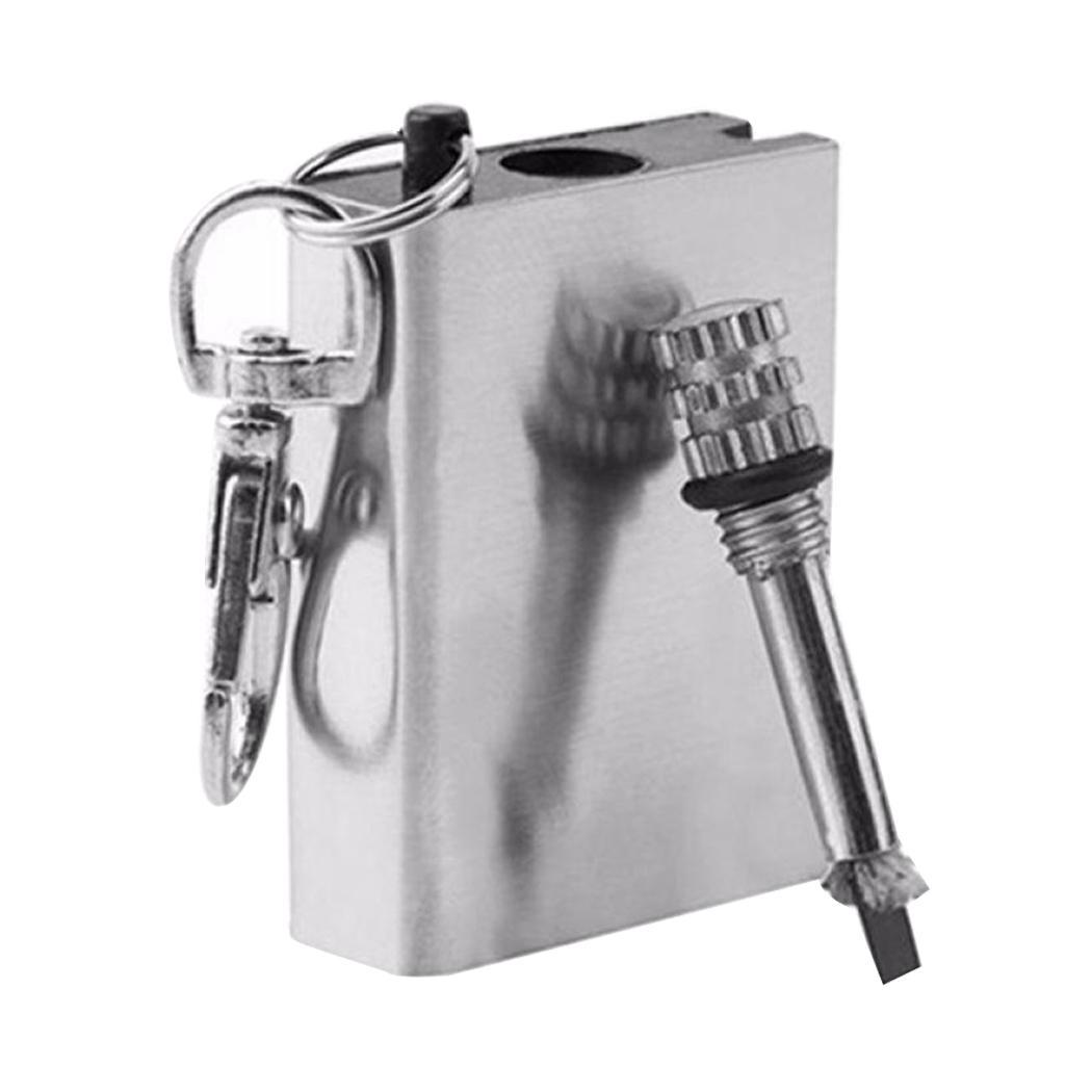 Outdoor EDC Tools Fire Starter Matches Portable Bottle Shaped Survival Tool Lighter Kit for Outdoor NO OIL