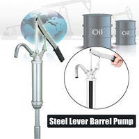 15 55 Gallon Steel Lever Barrel Pump Hand Manual Gas Oil Water Liquid Transfer Pump Pressure Rod Type Oil Pump