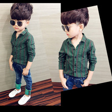 Boys Shirt Baby Clothing Spring Cotton Long-Sleeved Children's New-Fashion Autumn And