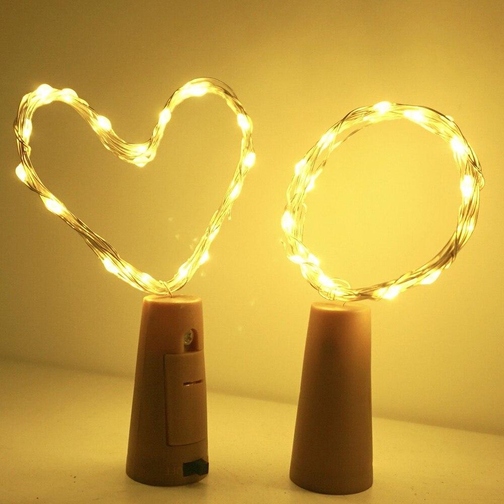 Christmas LED string light LED cork copper wire string lights LED Wine Bottle Cork Light Copper Wire LED Starry Fairy Lights D25 in LED String from Lights Lighting