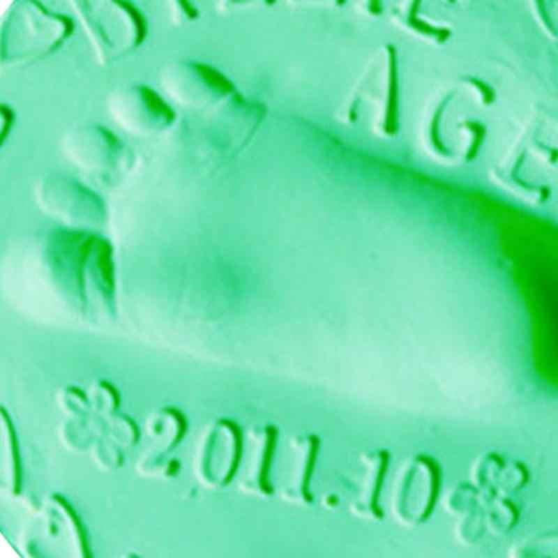 Bebé huella responsables infantil 7 colores secado con aire de arcilla suave 3D huella responsables impresión Kits de padre-hijo Inkpad recuerdos