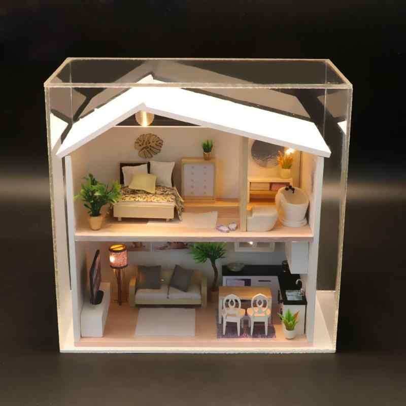 Детский Кукольный домик ручной работы креативный теплый кукольный дом Миниатюрный для ремонта мебели деревянный кукольный дом игрушки милое украшение для дома