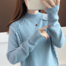 Spring Autumn Turtleneck Knitted Sweater Women And Pullover Female Tricot Jersey Jumper Pull Femme