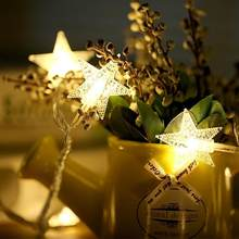 LED Star Light String Twinkle Garlands Battery Powered Christmas Lamp Holiday Party Wedding Decorative Fairy Lights(China)
