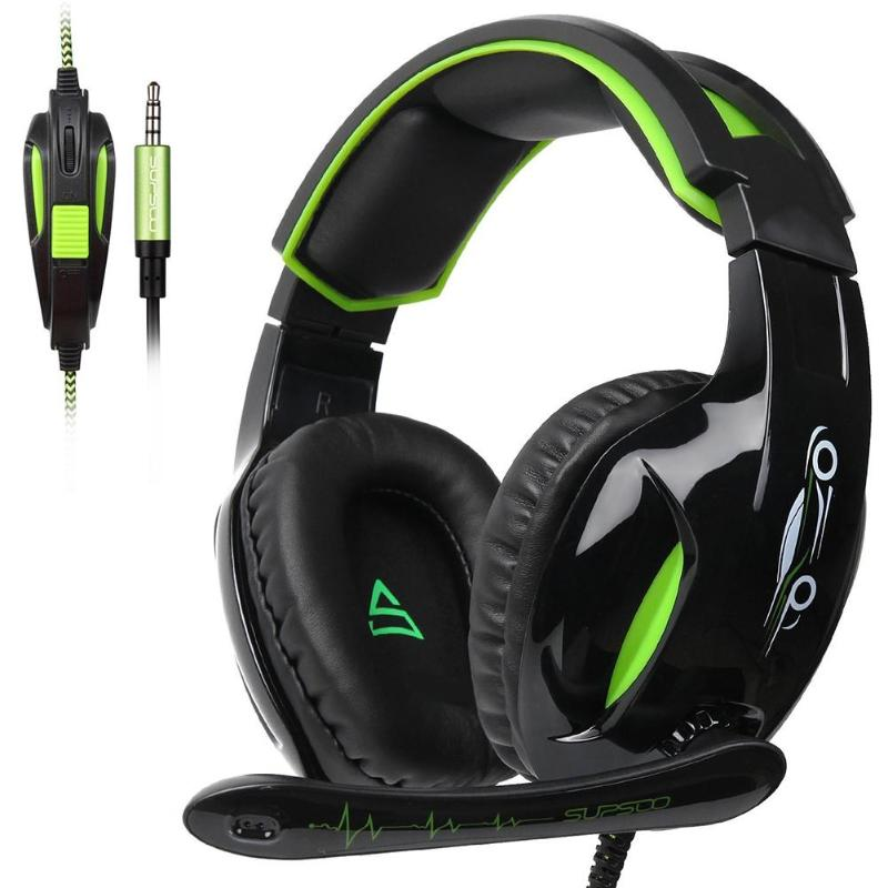 G813 Music Game Headphones 3.5mm Wired Noise Cancelling Gaming Headset Headphones w/ Microphones for PC Players Notebook PS4 New