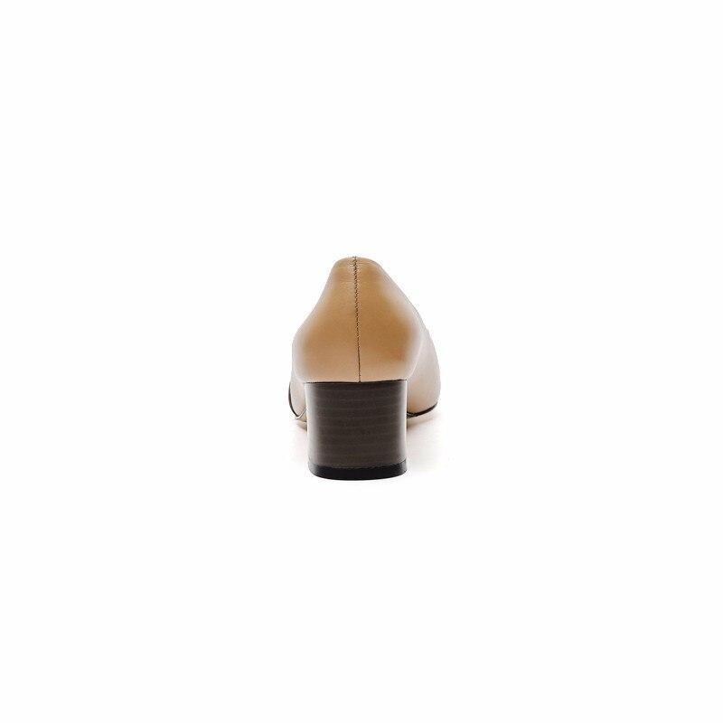 Yougolun Pointu Talons Patchwork Dame Chaussures 2019 Mode brown Apricot Bureau Bout Printemps Décontracté B043 D'été Carré De Med À rwBr7qz