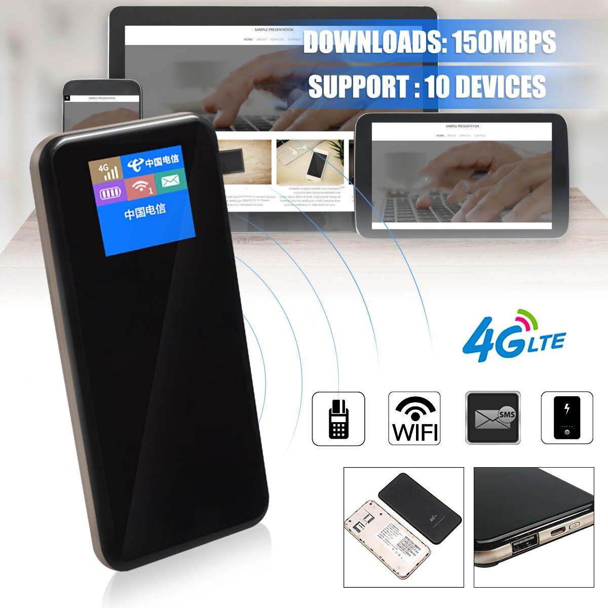 Portable Mobile Haut Débit WiFi 4G 3G LTE FDD TD 150 Mbps MiFi Routeur