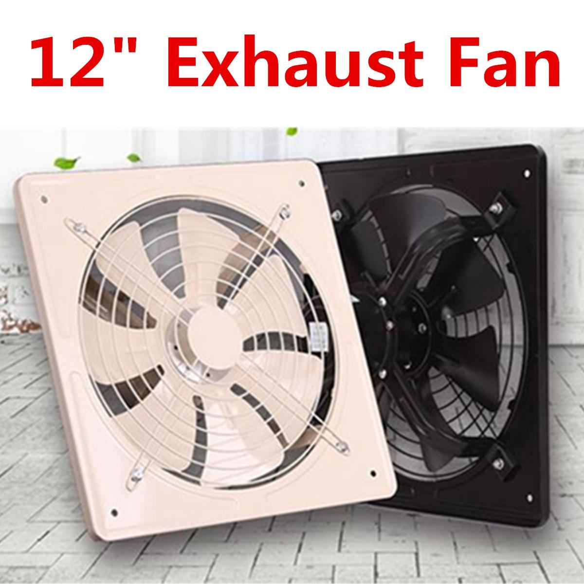Noir 12 pouces ventilateur d'échappement haute vitesse extracteur d'air fenêtre ventilateur de Ventilation pour cuisine ventilateur Axial ventilateur mural industriel 220 V