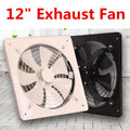 Schwarz 12 inch Exhaust Fan High Speed Air Extractor Fenster Belüftung Fan für Küche Ventilator Axiale Industrielle Wand Fan 220 V