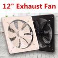 Ventilador de escape negro de 12 pulgadas Extractor de aire de alta velocidad ventilador de ventilación de ventana para ventilador de cocina ventilador de pared Industrial Axial 220 V