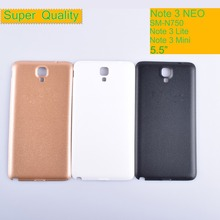 10Pcs/lot For Samsung Galaxy Note 3 Neo Mini Lite N750 N7502 N7505 SM-N750 Housing Battery Cover Back Cover Case Rear Door