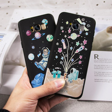 CASEIER Embossed Case For Samsung Galaxy S6 S7 edge Matte Soft TPU Spaceman ET Phone Case For Samsung S8 Plus Note 8 Accessories стоимость