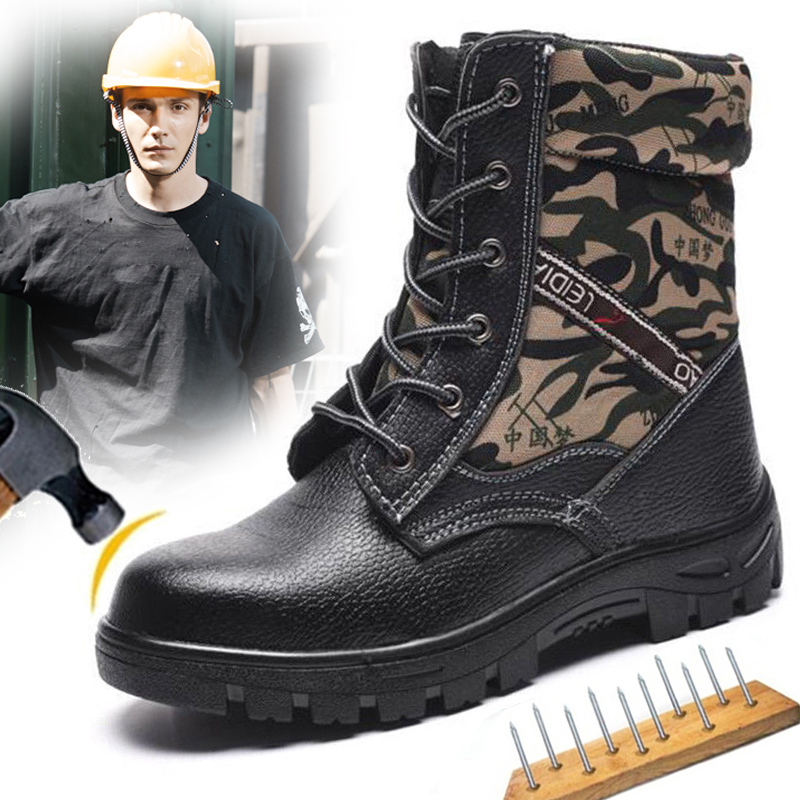 Большой Размеры Eur40-46 Bulletproof анти-разбив Сталь носком AtreGo Рабочая безопасная обувь Мужские зимние сапоги на меху Зимние ботильоны