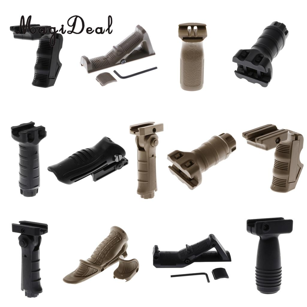 Magideal Vertical Front Grip Forward Foregrip For Picatinny Front Rail L Shape Black
