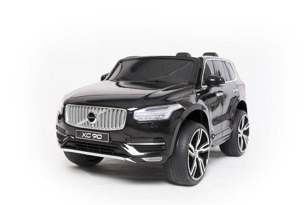 Volvo лицензии XC90 Электрический ездить на машинках для детей rc с ручкой кожа сиденье