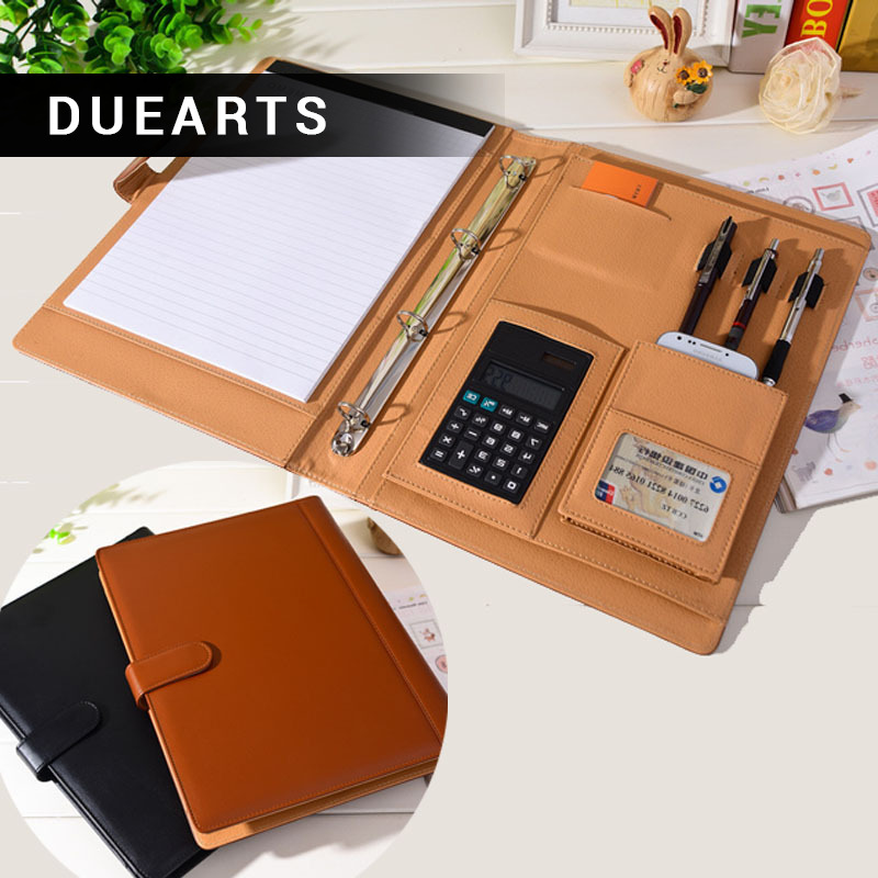 DUEARTS Leather Padfolio Multifunction Organizer Planner