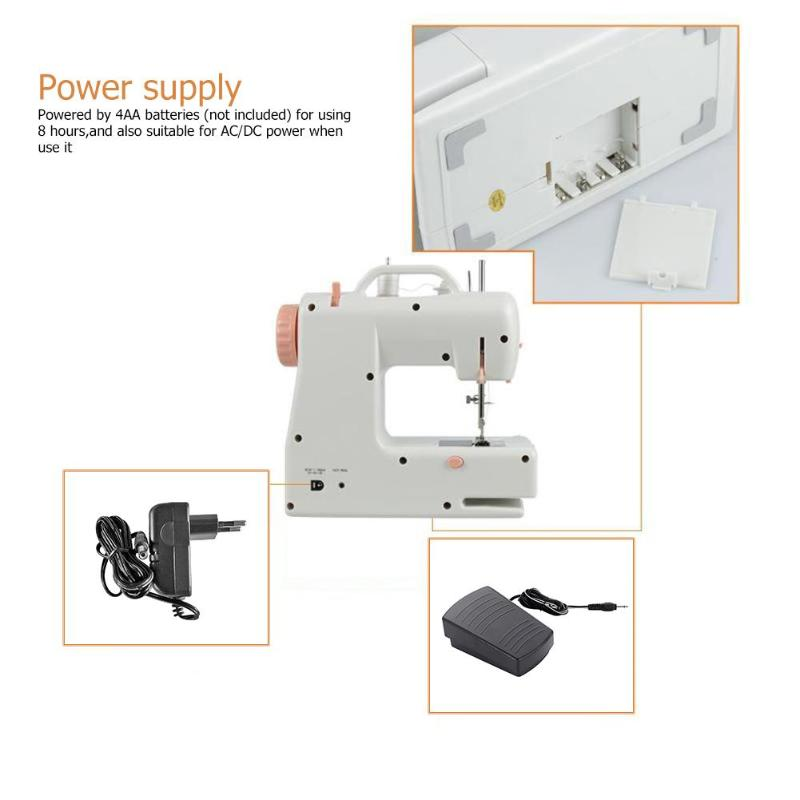 Portable Automatic Thread Stitching AC110-220V Electric Sewing Machine Built-in Light Household Mending Machine Sewing Accessory