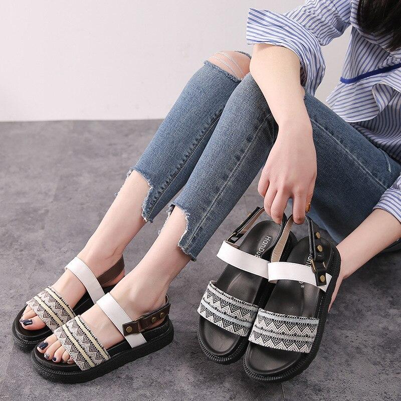2019 Flat Bottom Nation Shoe Woman Platform Shoes Rome Toe Womens Shoes2019 Flat Bottom Nation Shoe Woman Platform Shoes Rome Toe Womens Shoes