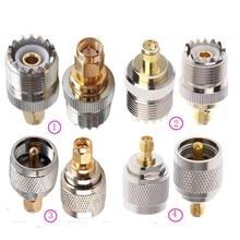 Коннектор JX 2pcs РЧ адаптер UHF-SMA SMA женский мужской к UHF мужской PL259 SO239 разъем РЧ коаксиальный адаптер