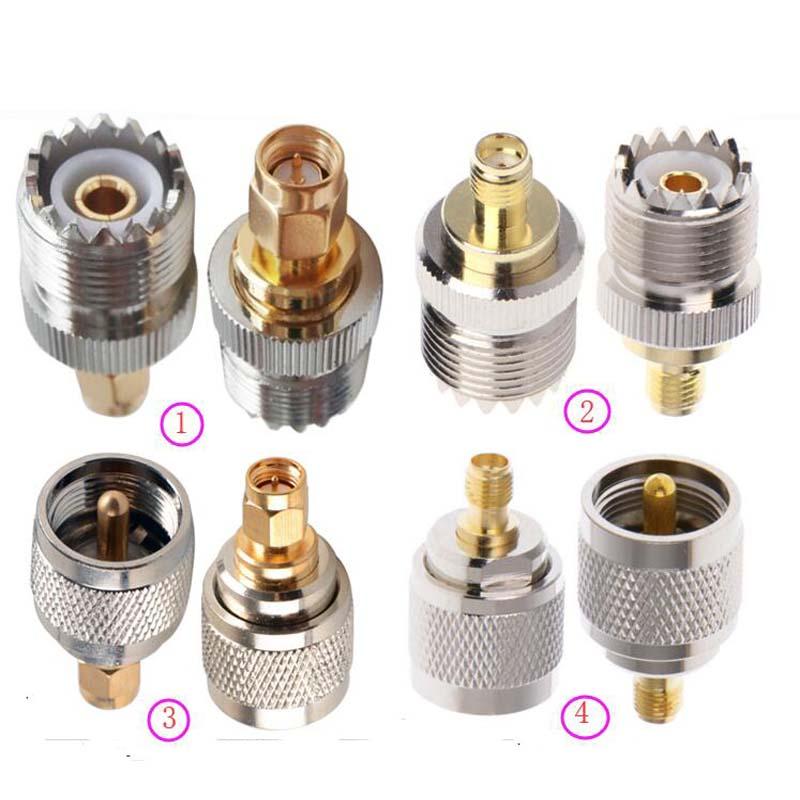 JX connecteur 2 pièces adaptateur RF UHF-SMA SMA Femelle mâle À Mâle UHF PL259 SO239 Connecteur Coaxial RF Coaxial Adaptateur