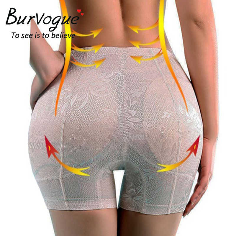 Burvogue Butt Lifter Padded Panty Hip Enhancer Body Shaper for Women Shaper Panties Underwear Lace Hip Up Tummy Control Panties
