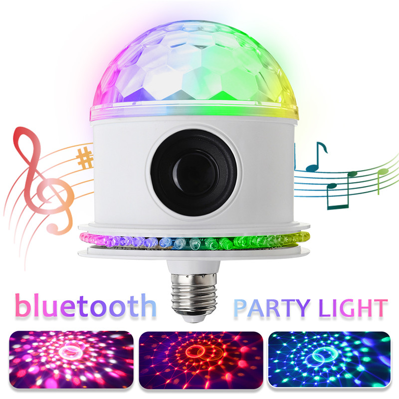 Provided Smuxi E27 Smart Rgb Lamp Wireless Bluetooth Speaker Bulb Music Player Auto/sound Active/dmx512 Led Disco Ball Party Lights Lights & Lighting