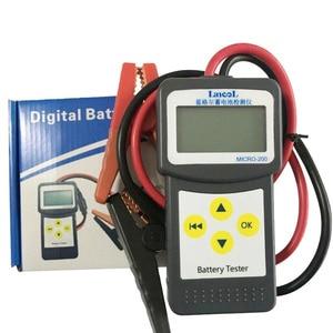 Image 5 - Wersja wielojęzyczna MICRO 200 Automotivo bateria cyfrowy analizator baterii CCA tester akumulatora samochodowego 12V narzędzie diagnostyczne
