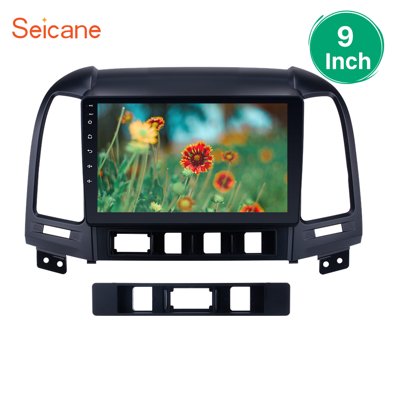 Seicane 2Din Android 8,1/7,1/6,0 9 Car Радио Мультимедийный проигрыватель для 2005 2012 HYUNDAI SANTA FE 4 Core HD 1080 P Wi Fi 3g головное устройство