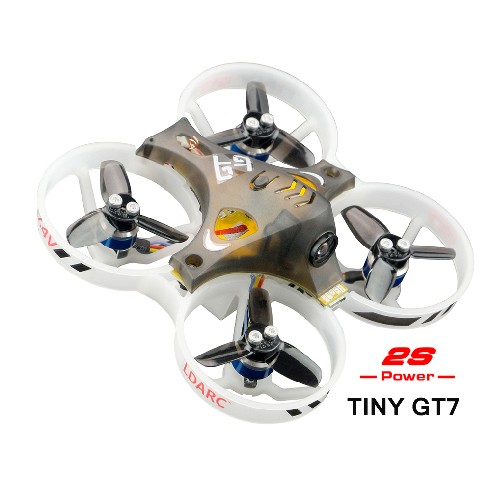 2018 New Arrival LDARC 2S Power TINY GT7 PNP Indoor Drone Micro Brushless FPV Racing Drone with DSM2/RX2A Pro/AC900 Receiver kingkong tiny 7 micro fpv racing quacopter dsm2 receiver yellow
