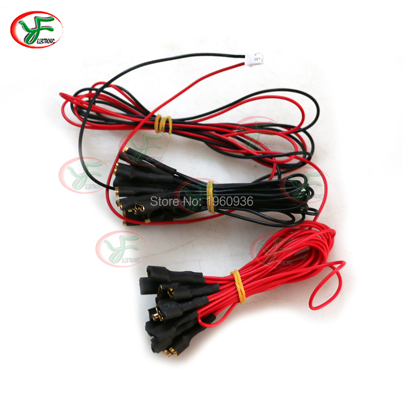 Arcade DIY KIT Parts Cable Series Connection Wires With 6.3mm or 2.8mm For led Push Button Blub To Zero delay USB encoder