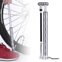 Sliver Floor standing Mini Portable Air Basketball Cycling Bike Pump Tire Inflator
