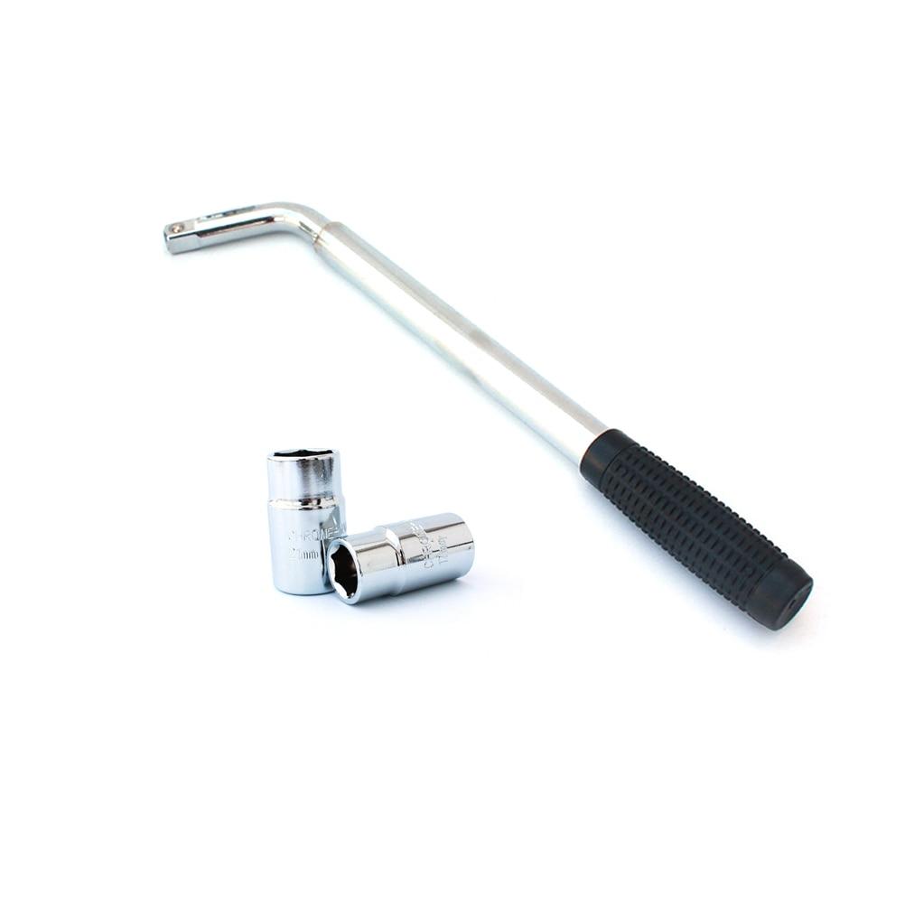 17 19mm 21 23mm Telescoping Lug Wrench Wheel Extendable Car Brace Heavy Duty Nut Sockets