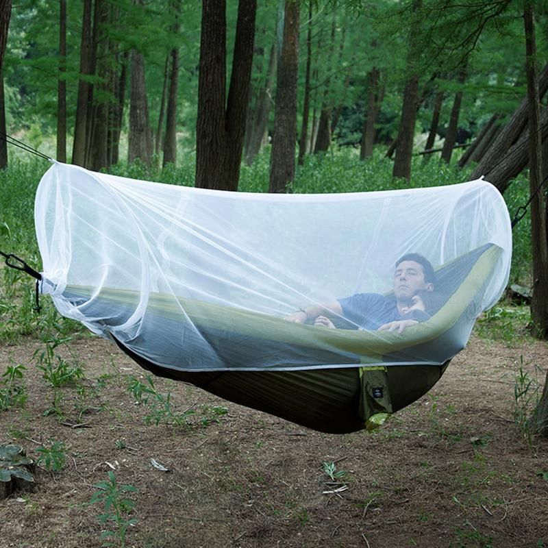 Capable 255cm/100.39in Outdoor Breathable Hammock Mosquito Net Gauze Breathing Outdoor Camping White Hamster Universal Mesh Cover Camp Sleeping Gear Sleeping Bags