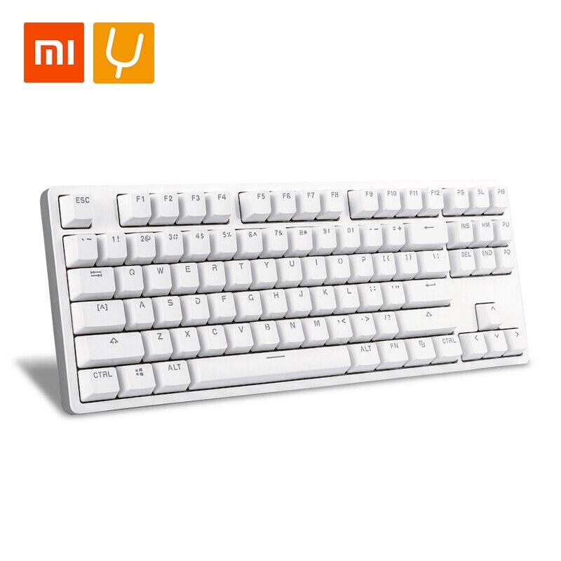 Xiaomi Yuemi MK01 87keys механическая клавиатура светодиодный Подсветка алюминиевый сплав TTC красный-клавиатура Axis для компьютерных игр teclado gamer