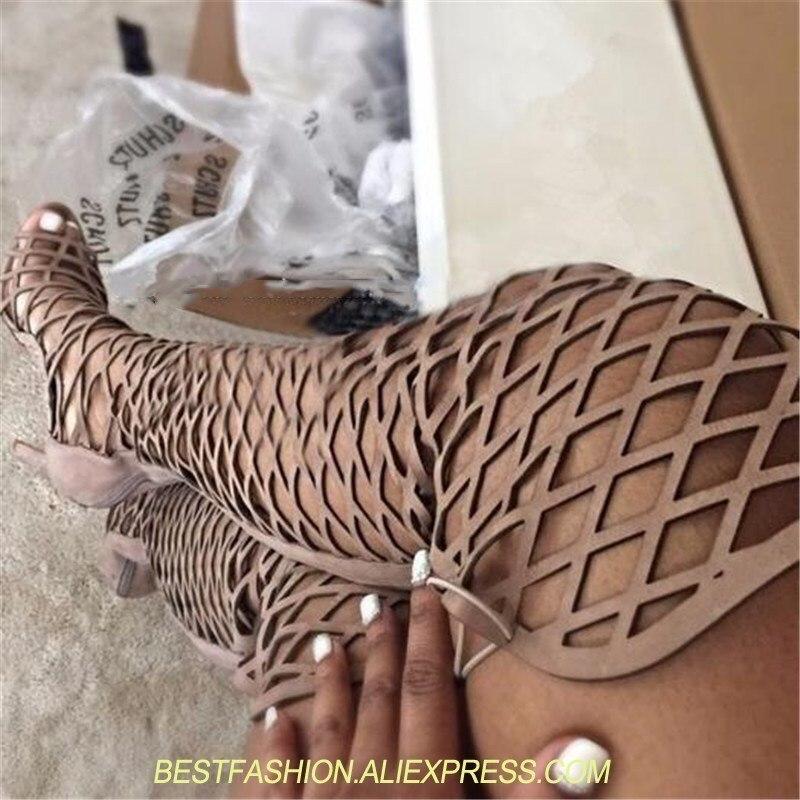 Genou Peep Bottes Femmes Picture Chaussures Longues Toe Sandales as As Sexy À Cuissardes Haute Gladiateur D'été Lacets Pour Picture Femme 1t7WHBHqnd