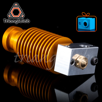 trianglelab High quality customization gold heatsink hotend V6 nozzle  J-head  heater block heat break for E3D hotend for PT100 недорого