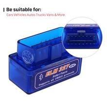 Seicane ELM327 V1.5 OBD OBD2 Bluetooth OBD II считыватель кодов диагностический Автомобильный сканер инструмент