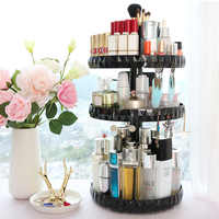 360 Rotating Clear Makeup Organizer Cosmetics Storage Holder Large Capacity Acrilico Organizador Maquillaje Rangement Maquillage