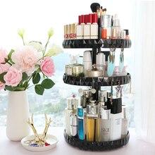 360 Rotating Clear Makeup Organizer Cosmetics Storage Holder Large Capacity Acrilico Organizador Maquillaje Rangement Maquillage