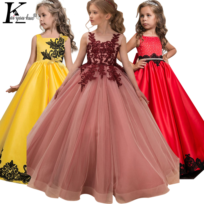 Vestido de las niñas Traje de Pascua Vestidos de los niños para las niñas Vestido de novia Vestido de princesa adolescente Vestidos 5 6 7 8 9 10 11 12 13 14 años